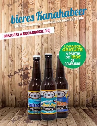 Livraison gratuite bières artisanale web KANAHA BEER