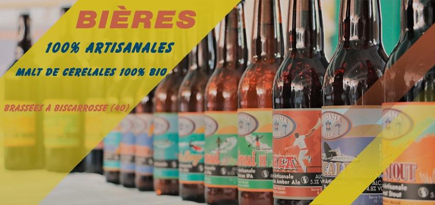 Bières artisanales Kanaha-beer Biscarrosse